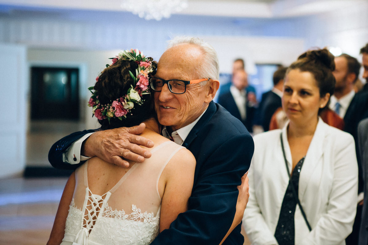 życzenia ślubne na sali