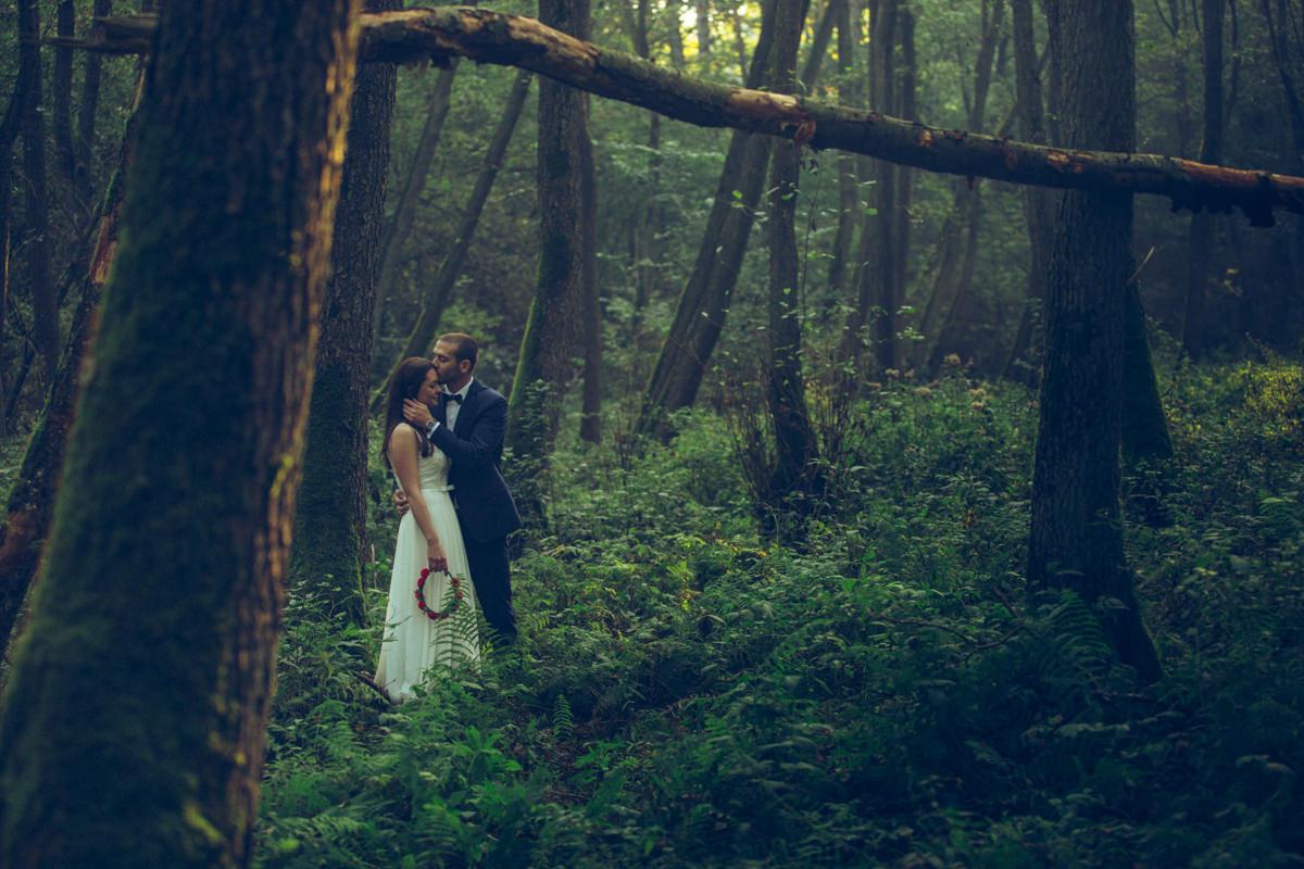 Pocałunek w lesie