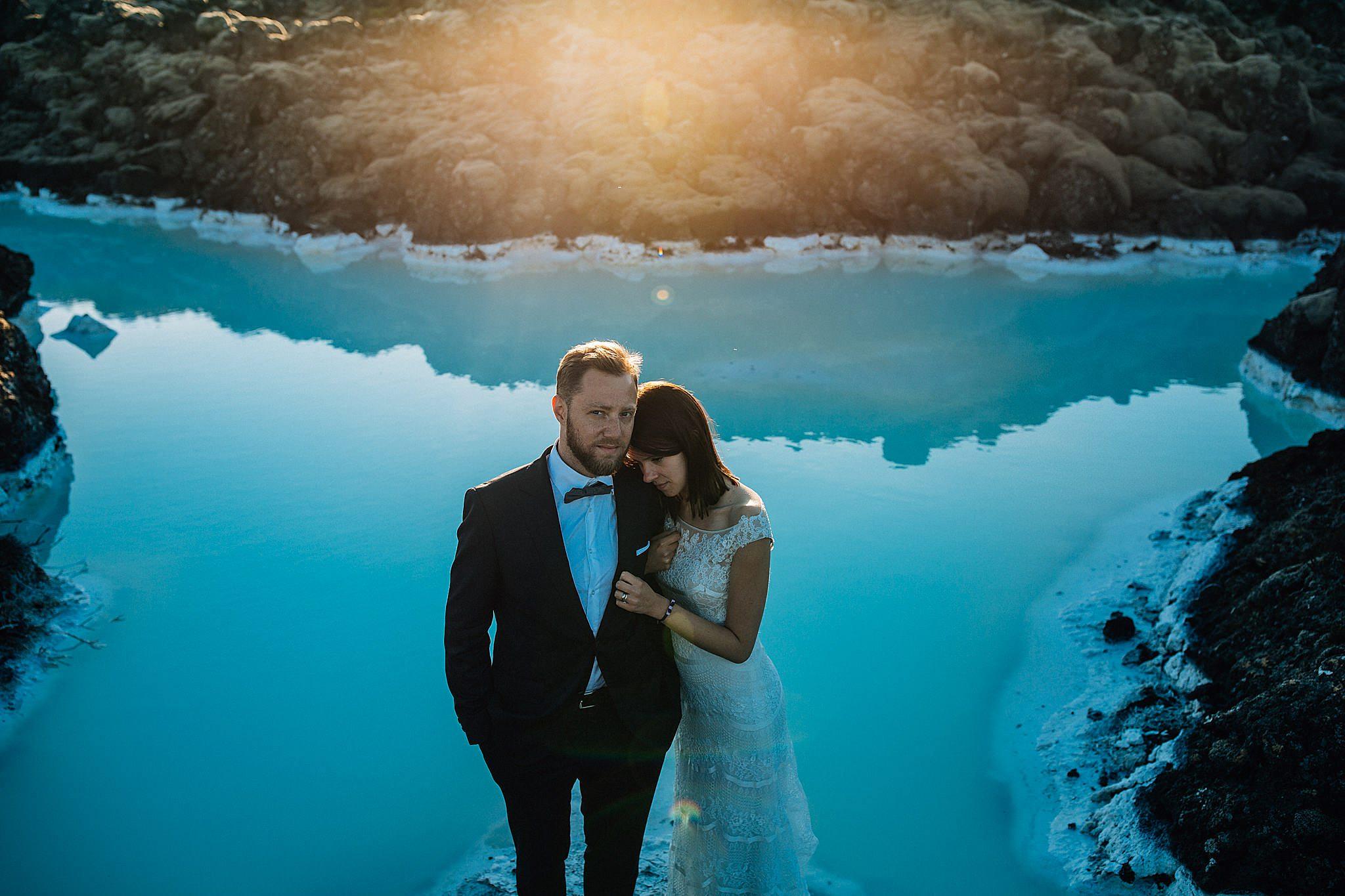 Blue lagoon sesja pary mlodej Islandia