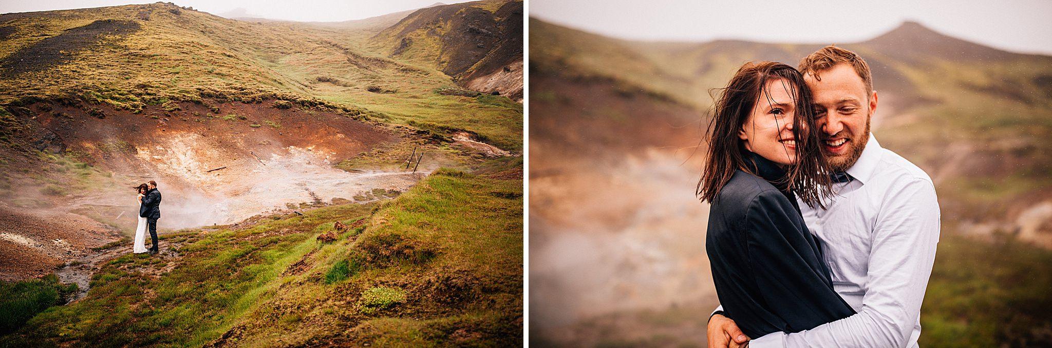 Gorace zrodla na Islandi plener slubny