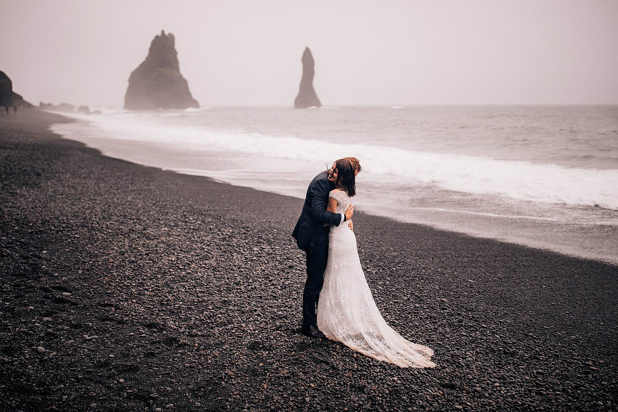 Czarna plaza Islandia